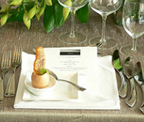 A place setting from a Chef Stephen Treadwell–curated dinner
