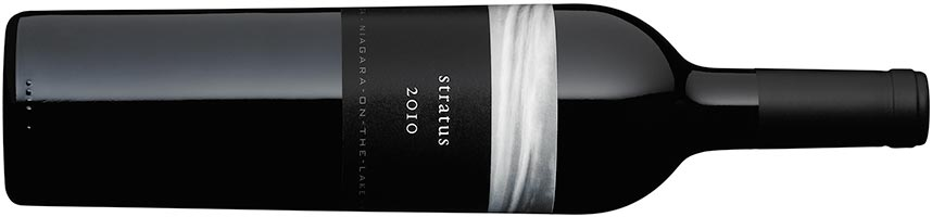 A bottle of Stratus Red, 2010